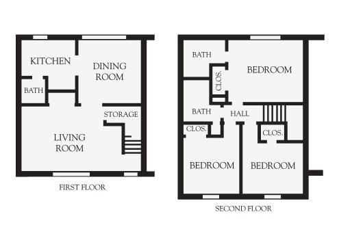 3 Bedroom Garden floor plan
