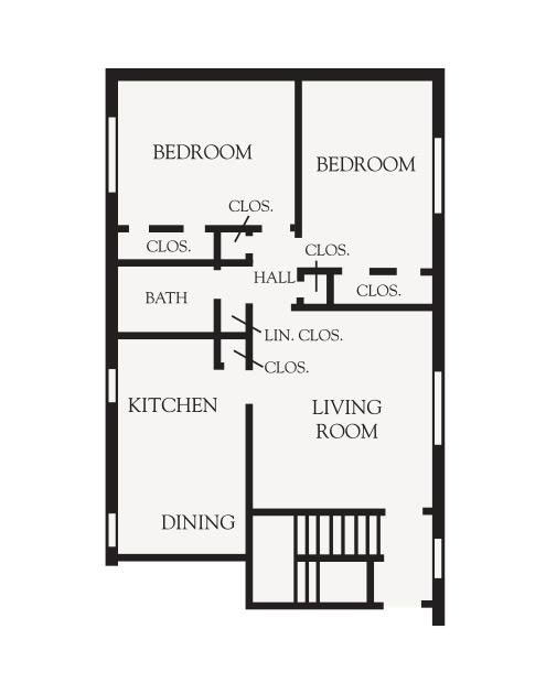 2 Bedroom Garden Floor plan