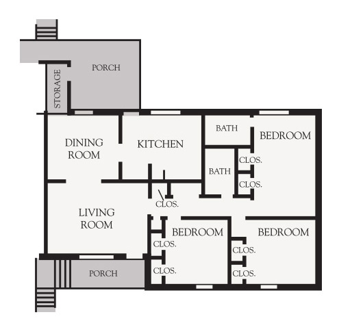 3 Bedroom Garden Floor plan