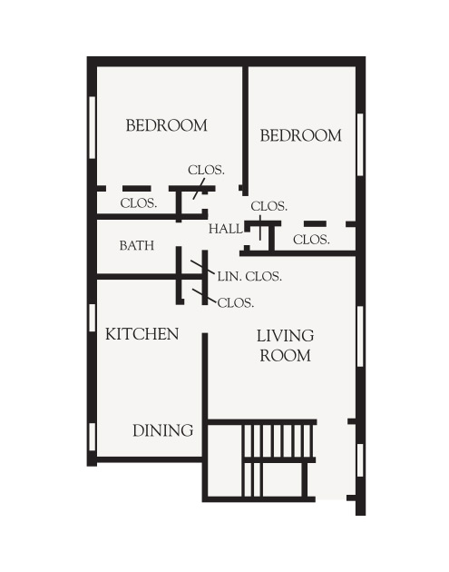 2 Bedroom Garden Floor plan